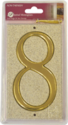 Stone Masonry Effect Number Plaque 8