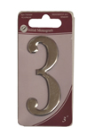 3 inch Silver Effect Numeral 3