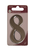 3 inch Silver Effect Numeral 8