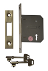 63 mm 2 1/2 inch Nickel Plated 3 Lever Mortice Deadlock sign
