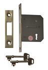 75 mm 3 inch Nickel Plated 3 Lever Mortice Deadlock sign