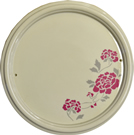Hand Painted Flower Design Plaque 225 mm dia