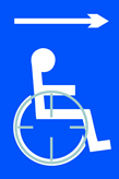 Disabled arrow right - Taktyle Sign 150 x 225mm