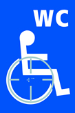 Disabled WC graphic - Taktyle Sign 150 x 225mm