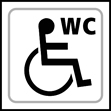 Disabled WC graphic - Taktyle Sign 150 x 150mm