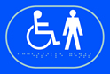 Disabled Gentlemen graphic - Taktyle Sign 225 x 150mm
