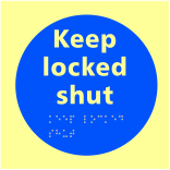 Keep locked shut - Taktyle Photoluminescent 150 x 150mm