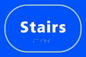 Stairs - Taktyle Sign 225 x 150mm