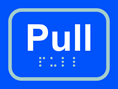 Pull - Taktyle Sign 100 x 75mm