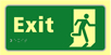 Exit running man - TaktylePh 300 x 150mm