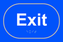Exit - Taktyle Sign 225 x 150mm