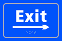 Exit arrow right - Taktyle Sign 225 x 150mm
