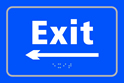 Exit arrow left - Taktyle Sign 225 x 150mm