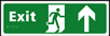 Exit man running arrow up - Taktyle Sign 450 x 150mm