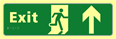 Exit man running arrow up - TaktylePh 450 x 150mm