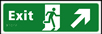 Exit man running arrow up / right - Taktyle Sign 450 x 150mm