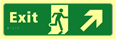 Exit man running arrow up / right - TaktylePh 450 x 150mm