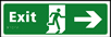 Exit man running arrow right - Taktyle Sign 450 x 150mm
