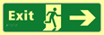 Exit man running arrow right - TaktylePh 450 x 150mm