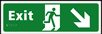Exit man running arrow down / right - Taktyle Sign 450 x 150mm