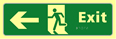 Exit man running arrow left - TaktylePh 450 x 150mm