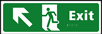 Exit man running arrow up / left - Taktyle Sign 450 x 150mm