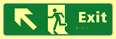 Exit man running arrow up / left - TaktylePh 450 x 150mm