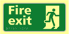 Fire exit running man - TaktylePh 300 x 150mm