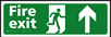 Fire exit man running arrow up - Taktyle Sign 450 x 150mm