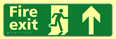 Fire exit man running arrow up - TaktylePh 450 x 150mm