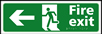 Fire exit man running arrow left - Taktyle Sign 450 x 150mm