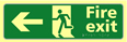 Fire exit man running arrow left - TaktylePh 450 x 150mm