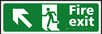 Fire exit man running arrow up / left - Taktyle Sign 450 x 150mm