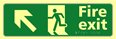 Fire exit man running arrow up / left - TaktylePh 450 x 150mm