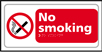 No smoking - Taktyle Sign 300 x 150mm