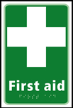 First aid - Taktyle Sign 150 x 225mm