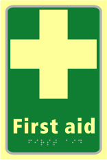 First aid - TaktylePh 150 x 225mm sign