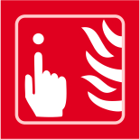 Fire alarm graphic - Taktyle Sign 150 x 150mm