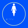 Ladies graphic - Taktyle Sign 150 x 150mm