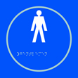 Gentlemen graphic - Taktyle Sign 150 x 150mm