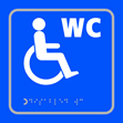 Disabled WC symbol - Taktyle Sign 150 x 150mm