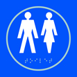 Gentlemen / Ladies graphic - Taktyle Sign 150 x 150mm