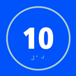 Number 10 - Taktyle Sign 150 x 150mm