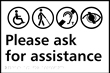 Please ring for assistance - Taktyle Sign 300 x 200mm