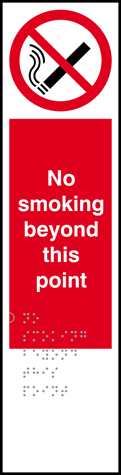 No smoking beyond this point - Taktyle 75 x 300mm