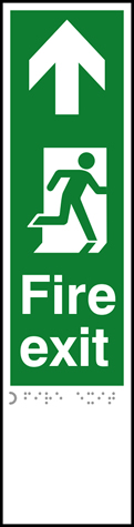 Fire exit man right arrow up - Taktyle 75 x 300mm