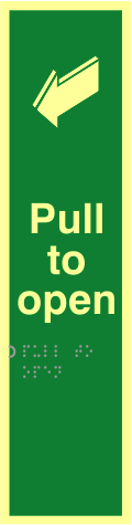 Pull to open - TaktylePh 75 x 300mm
