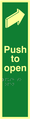 Push to open - TaktylePh 75 x 300mm sign
