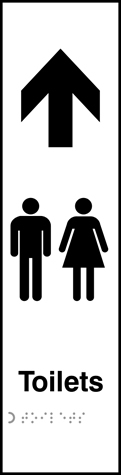 Toilets Gents / Ladies graphic arrow up - Taktyle 75 x 300mm