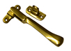 4 1 / 4 inch Polished Brass Victorian Wedge Plate Fastener